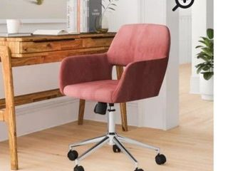 Furnish 1 Ross chrome Velvet Rose secretary office chair