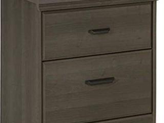 South Shore Versa 2 Drawer Nightstand  Wood  Gray Maple