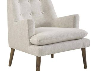 Modway Leisure Upholstered Lounge Chair, Beige/Cream