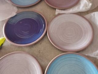 Melange 6 Pieces 100pct Melamine Salad Plate Set