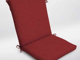 Set of 2 Arden Selections Ruby Leala Texture Outdoor Chair Cushion - 44 in L x 20 in W x 3.5 in H