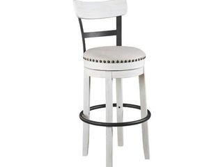 Valebeck White Bar height Swivel Bar Stool