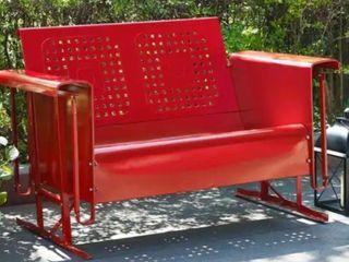 Bates Loveseat Glider in Red