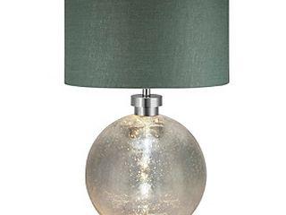 Catalina Lighting Mila Mercury Glass with Night Light Table Lamp
