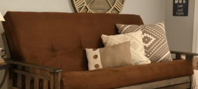Somette Full-size Futon Mattress Suede Brown