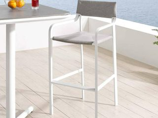 Raleigh Aluminum Patio Barstool Gray   Modway
