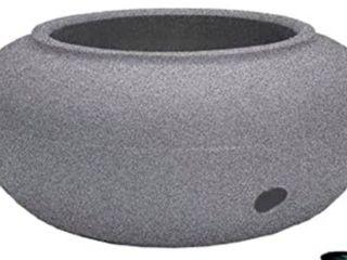HC Companies 21 Inch Decorative Outdoor Garden Water Hose Storage Pot, Granite