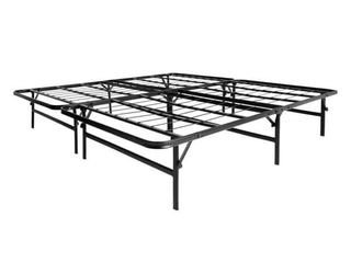linenspa Queen size 14 Inch Folding metal platform Bed Frame