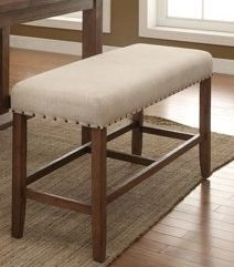 Furniture of America Tays Contemporary Brown Counter Dining Bench Retail:$125.00
