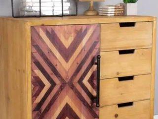 Jackson 4 Drawer/ 1 Door Wooden Cabinet Sideboard-