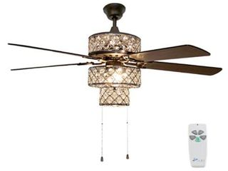 """River of Goods 52"""" Triple Crown LED Ceiling Fan with Light"""