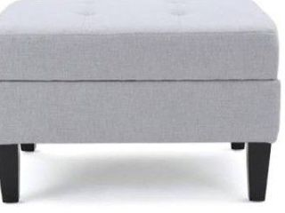 Noble house light grey footstool