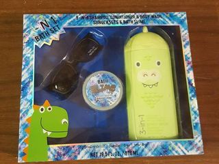 3-in-1 Bath Set- 3-in1 Shampoo, Conditioner and Body Wash, Green Apple Scent