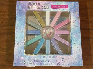 Glittering Hair Chalk Set 12 Colors. For Hair, Face & Body. Sealed (4a1)