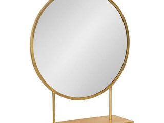 Kate and Laurel Rouen Round Metal Table Mirror - 18 x 22