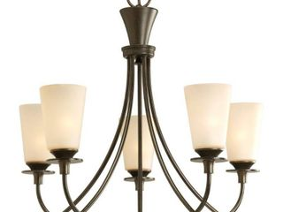 Progress Lighting P4006-77 5-Light Cantata Chandelier, Forged Bronze