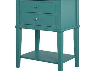 Ameriwood Home Franklin Accent Table with 2 Drawers in Emerald