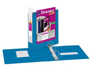 "Durable View Binder with 2"" Slant Rings, Blue, 1 Binder"