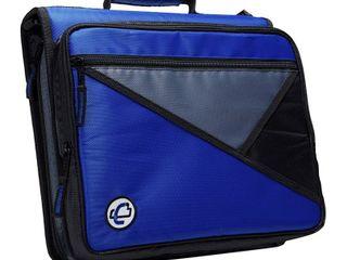 Case-it 3-Ring Zipper Binder, Holds 13 Inch Laptop, Blue, LT-007-BLU