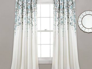 """Weeping Flowers 52"""" x 84"""" Curtain Set"""