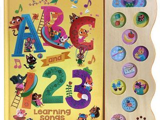 ABC and 123 Learning Songs - (Early Bird Song) by Scarlett Wing (Board Book)
