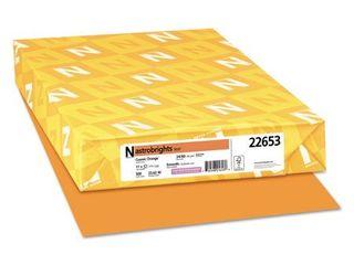 Neenah Astrobrights Premium Color Paper, 24 lb, 11 x 17 Inches, 500 Sheets, Cosmic Orange
