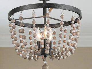 caroon loft large three light flush