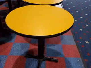 30in Round Yellow Table