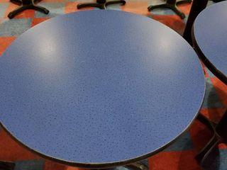 30in x 30in Blue Speckled Round Table