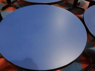 30in x 30in Round Blue Table