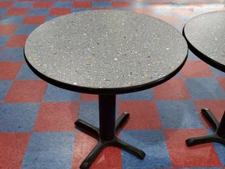 30in x 30in Gray Speckled Round Table