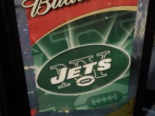 23in x 31in Budweiser NY Jets Picture
