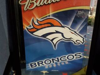 23in x 31in Budweiser Denver Broncos Picture