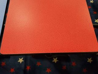 4ft x 30in Red Speckled Table
