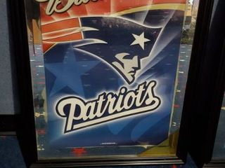 23in x 31in Budweiser New England Patriots Picture