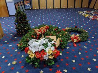 Faux Mini Christmas Tree  large Wreath  Assorted Decor