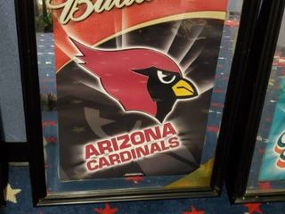 23in x 31in Budweiser Arizona Cardinals Picture