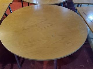 36in Round Wood Table