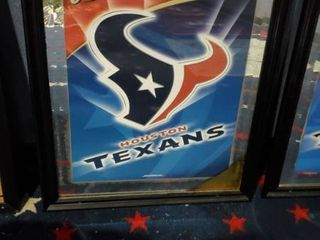 23in x 31in Budweiser Houston Texans Picture