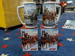 2  2008 Budweiser Clydesdales 75th Anniversary 1933 2008 Mugs