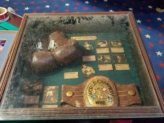Boxing Memorabilia Shadow Box  Boxing Picture
