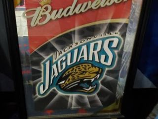 23in x 31in Budweiser Jacksonville Jaguars Picture
