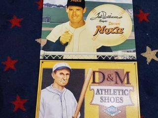 3  Metal Baseball Signs