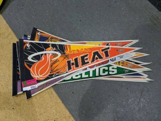 15  Assorted NBA Team Flags