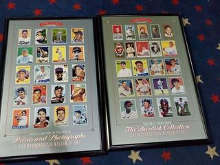 2  Baseball Cards Prints