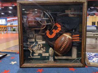 Wooden Shadow Box Football Memorabilia