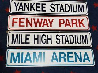 6  Baseball Stadium Metal Signs