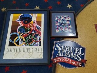 Centennial Games Poster  Samuel Adams Metal Sign  Devil Ray s Picture