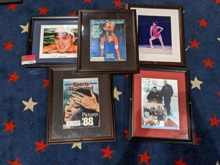 Assorted Framed Sports Posters