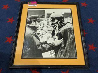 Framed Signed NFl Poster